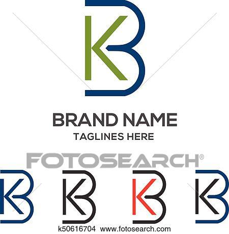 Letter Kb Logo Vector Clipart
