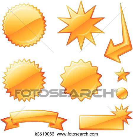 clipart of orange star burst designs k3519063 search clip art