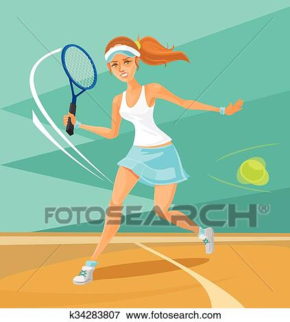 Tennis Clip Art Woman
