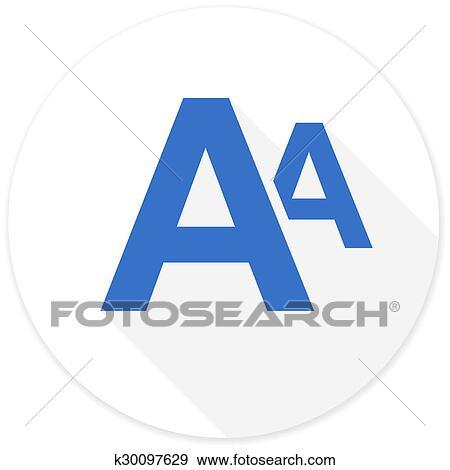 Colección de ilustraciones - alfabeto, plano, diseño, moderno, icono ...