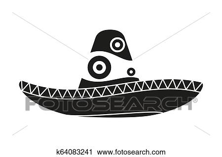 Mexican In Sombrero Clipart Free Stock Photo - Public Domain Pictures