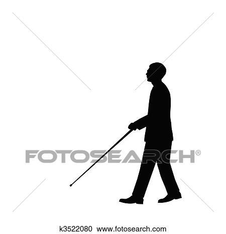 Blind Man Clipart K3522080 Fotosearch