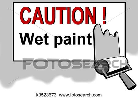 Drawing Of Caution