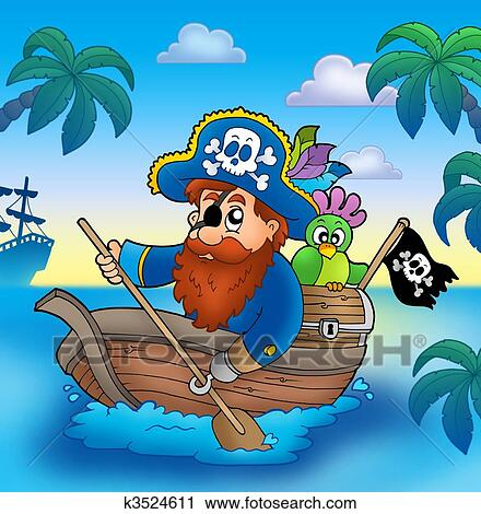 Coloriage Bateau Pirate Couleur.Dessin Bateau Pirate Couleur