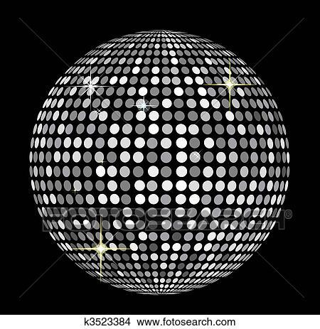 tekeningen disco bal k3523384 zoek clipart illustraties