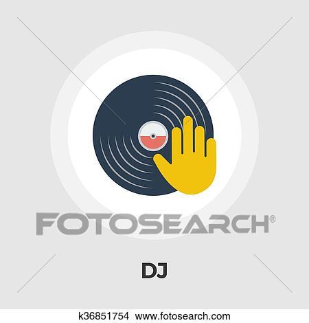 Clipart - disco del vinilo, plano, icono k36851754 - Buscar Clip Art ...