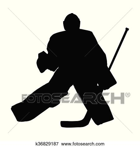 Goalie In Ice Hockey Moves Across Ice In Hockey Goal Hockey Goalie