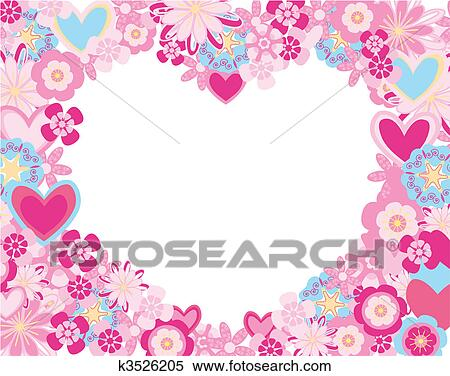 clipart of heart of flowers k3526205 search clip art illustration rh fotosearch com clipart hearts and flowers Butterfly Clip Art