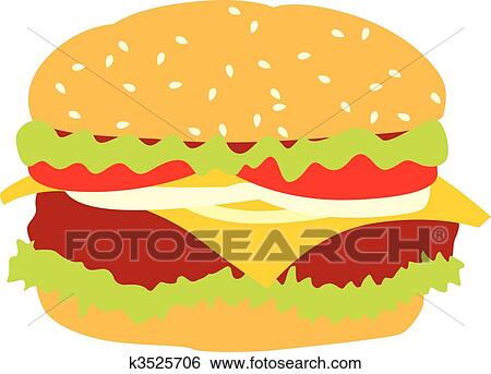 clip art of isolated hamburger k3525706 search clipart