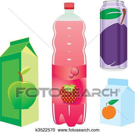 Clipart isolato succo frutta recipients k3522570 for Clipart frutta