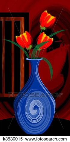 Digital painting of a flower vase near a window. Stock Illustration & Digital painting of a flower vase near a window. Stock Illustration ...