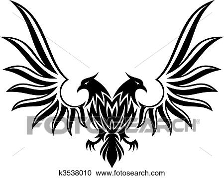 Clipart Of Double Headed Eagle 2 Vector K3538010