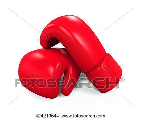 dibujos guantes de boxeo rojos k24213644 buscar clip art