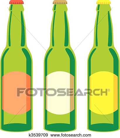 clip art of isolated beer bottles set k3539709 search clipart rh fotosearch com beer bottle clipart png beer bottle clipart free