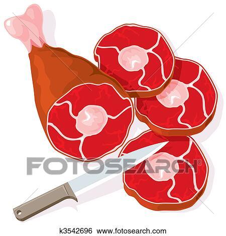 اللحم الخام Clip Art K3542696 Fotosearch