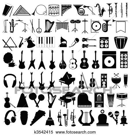 コレクション の シルエット の ミュージカル Instruments A