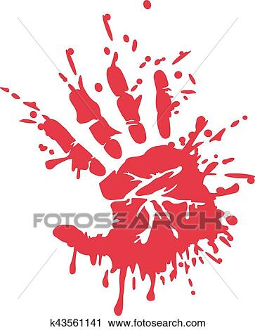 Bloody handprint Clipart