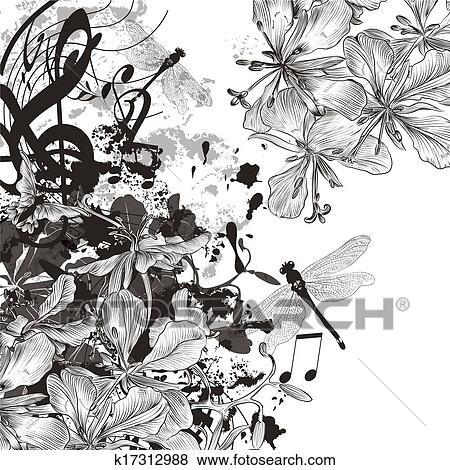 stock illustration - kreativ, musik, hintergrund, mit