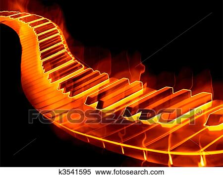 Clipart Of Keyboard On Fire K3541595 Search Clip Art Illustration