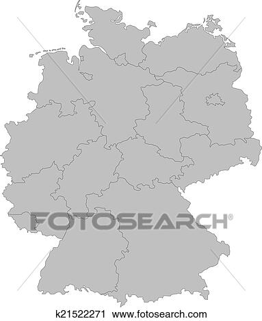 Simple Map Of Germany.Map Of Germany Clipart