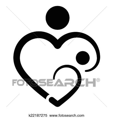 clipart of mother s heart breastfeeding k22187275 search clip art rh fotosearch com breastfeeding clipart free breastfeeding mother clipart