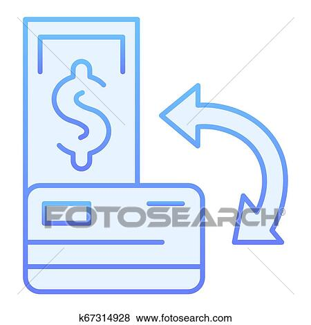 transaction flat icon and credit card blue icons in trendy flat style cashback gradient style design designed for web and app eps 10 clip art k67314928 fotosearch fotosearch