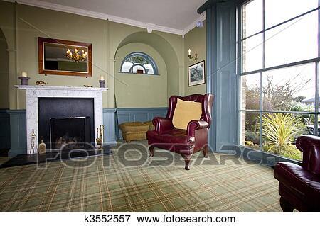 Georgian Style Living Room Stock Photo K3552557 Fotosearch