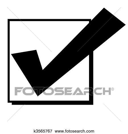 チェックマーク インボックス イラスト K3565767 Fotosearch