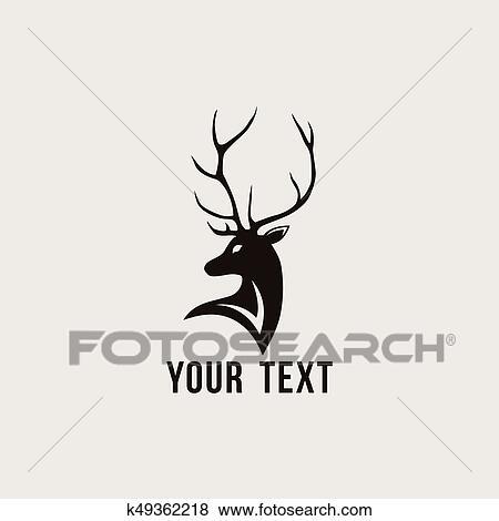 clip art of deer logo vector design template k49362218 search