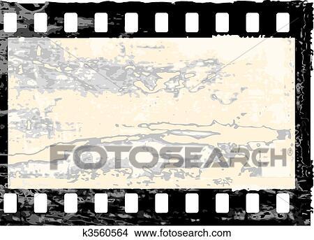 Clipart of Grunge filmstrip frame k3560564 - Search Clip Art ...