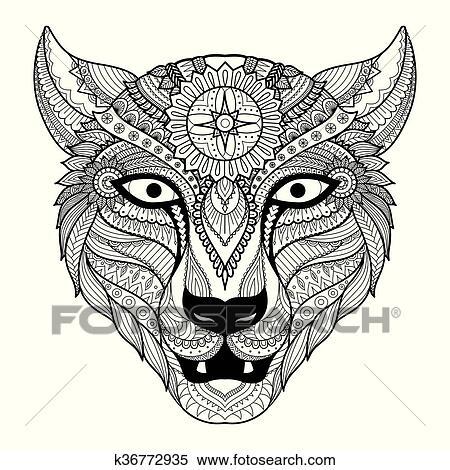 Clipart - leopardo, colorido k36772935 - Buscar Clip Art ...