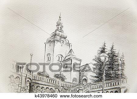 Mnoziny Ilustraci Cirkev Prevladajici Do Ta Davny Hlavni Mesto
