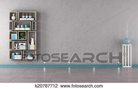 Contemporain, gris, salon Dessin | k20787712 | Fotosearch