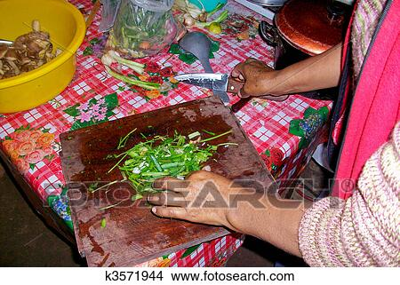 Stock Photo Of Cooking Woman In A Hut In Peru K3571944 Search