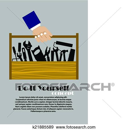Clip art of diy flat poster with tools k21885589 search clipart clip art diy flat poster with tools fotosearch search clipart illustration posters solutioingenieria Gallery