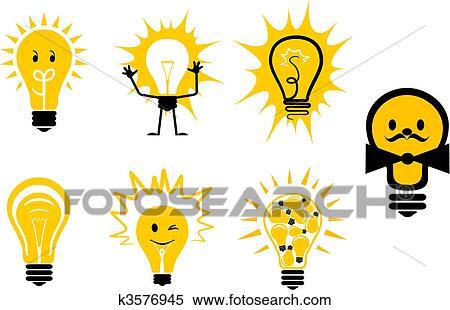 Clipart Lampadine Simboli K3576945 Cerca Clipart Illustrazioni