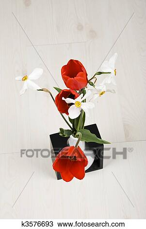 Stock Photo of Top view of spring flowers in a vase k3576693 ... on umbrella top view, desk top view, tree top view, couch top view, table top view, plate top view, sculpture top view, rug top view, bedroom top view, spoon top view, apple top view, box top view, plant top view, rose top view, stool top view,