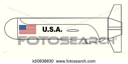 Voler missile croisi re contour dessin clipart - Dessin contour ...
