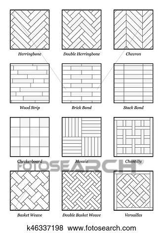 Verschiedenes Holz Und Muster Bei Parkett 13