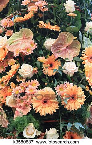 Picture of pink orange flower arrangement k3580887 search stock picture pink orange flower arrangement fotosearch search stock photography photos prints mightylinksfo