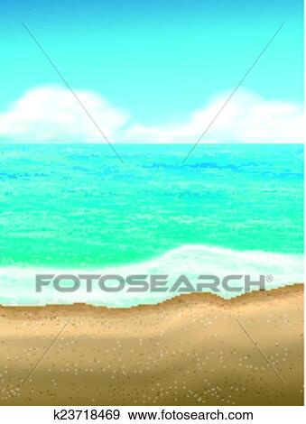 clip art of sand of beach scene background k23718469 search