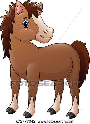 Cute Brown Baby Horse Clipart K72777042 Fotosearch