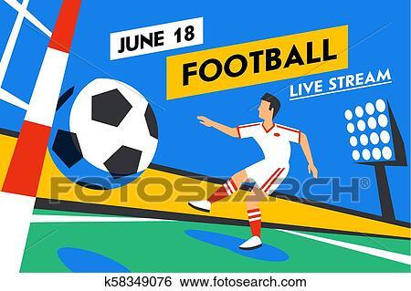 Football Web Banner Live Bach Game Fussball Forward