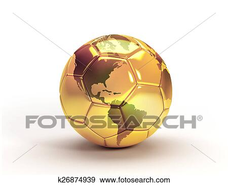 8f517605d Gold soccer ball trophy Stock Illustration | k26874939 | Fotosearch
