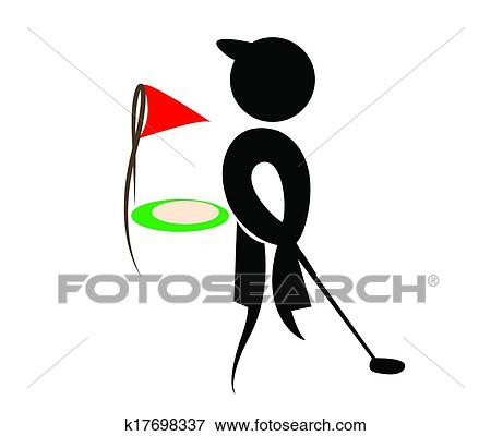 Clip Art Of Golf Silhouettes Vector K17698337 Search Clipart