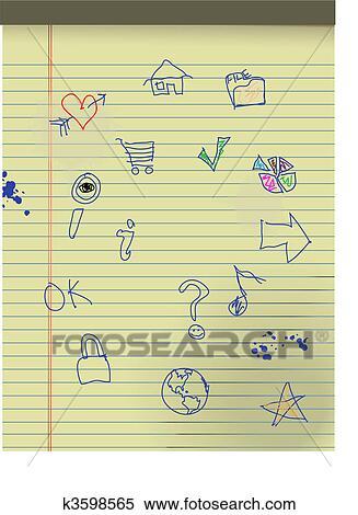 Clipart - hand, gezeichnet, grunge, kinder, heiligenbilder, auf ...