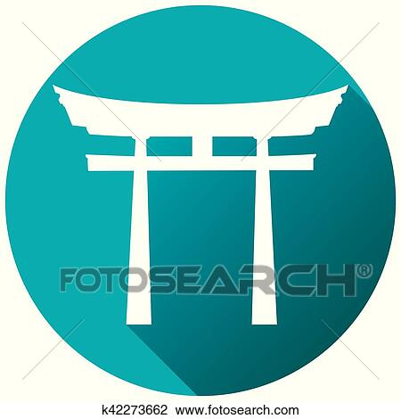 Clipart Of Japan Gate Torii Gate Flat Shinto K42273662 Search