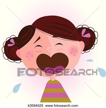 Clipart - weinendes baby, mädchen k3594525 - Suche Clip ...