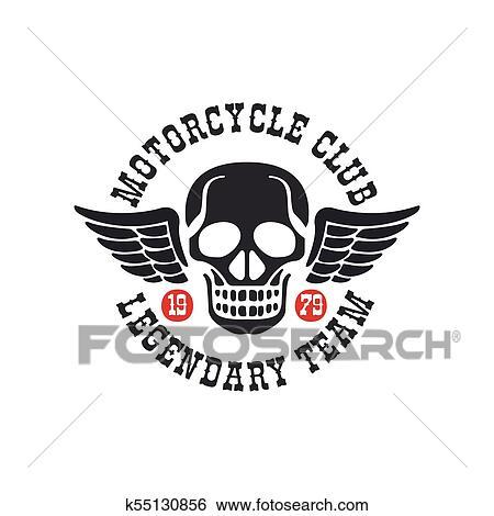 Motorcycle Club Logo Legendary Team 1979 Design Element For Motor