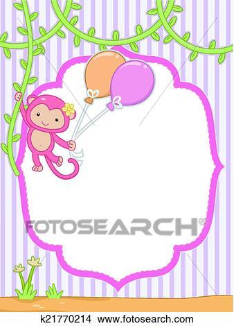 Clipart of Safari Frame k21770214 - Search Clip Art, Illustration ...